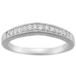 0.15-0.20 Cts SI1-SI2 clarity & I-J color Round Diamond Wedding Band in Platinum
