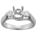 0.37 Cts Diamond Engagement Trellis Ring Setting in Platinum