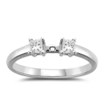 0.25 Cts Diamond Engagement Ring Setting in Platinum