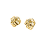 Knot Earring with Backs in 14K Yellow Gold