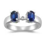 1.00 Cts Blue Sapphire Engagement Ring Setting in Platinum