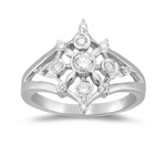 0.40-0.45  Cts  SI2 - I1 clarity and I-J color Diamond Right Hand Ring in 14K White Gold