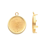 Coin Earring Dangles in 14K Yellow Gold
