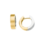 Two Tone Hinged Earrings in 14K Two Tone Gold