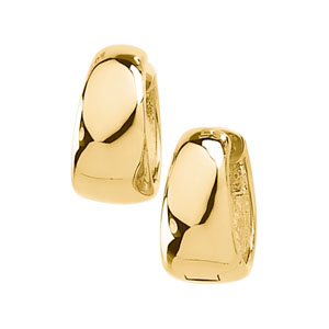 Shiny Graduating Snuggable Hinged Earring in 14K Yellow Gold