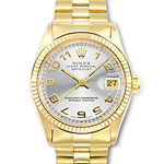 Rolex Date Just Watch in 18K Yellow Gold