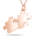 Puzzle Pendant in 14K Pink Gold