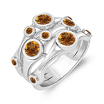 Citrine Ring in 14K White Gold