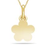 Flower Charm Pendant in 14K Yellow Gold