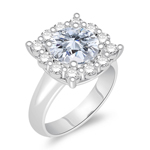 2.60 Cts Diamond Engagement Ring in 14K White Gold