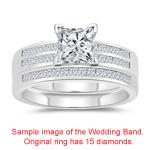 1.78 Cts Diamond Matching Ring Set in 14K White Gold