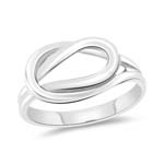 Plain Love Knot Ring in 14K White Gold