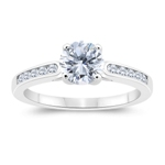 1.20 Cts Diamond Engagement Ring in 14K White Gold