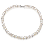10 mm Natural Freshwater Pearl Necklace in Silver