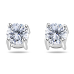 Cubic Zircon Earrings in Sterling Silver