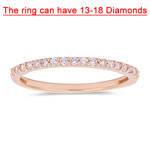 1/4 Cts Natural Pink Diamond Ring in 10K Pink Gold