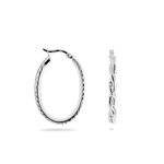 Oval Tube Earrings in Sterling Silver