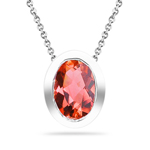 0.90 Cts Mystic Ecstasy Topaz Solitaire Pendant in Silver - Christmas Sale