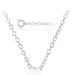Flat Cable Link Chain in Platinum -18 inches