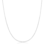 Cable Link Chain in 14K White Gold -18 inches