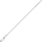 Box Chain in 18K White Gold -16 inches