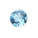 13.00-13.45 Cts of 15x15 mm AAA Round ( 1 pc ) Loose Swiss Blue Topaz Gemstone
