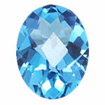 24.50-28.20 Cts of 22x16 mm AAA Oval Checkered ( 1 pc ) Loose Swiss Blue Topaz Gemstone