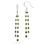 3.50 Cts Green Diamond Earrings in 18K White Gold