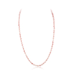 194.00 Cts of 6 mm Natural Pink Coral (not Dyed) Necklace in 14K White Gold