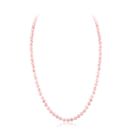 370.00 Cts of 9-9.5 mm Natural Pink Coral (not Dyed) Necklace in 14K White Gold