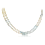 240.00 Cts AA Multi-Colored Aquamarine Necklace in 14K White Gold