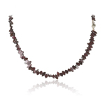 125.00 Cts Faceted Beads AA Garnet Necklace in Sterling Silver