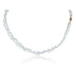 90.00-100.00 Cts Faceted Briolettes AA Aquamarine Necklace in 14K Yellow Gold