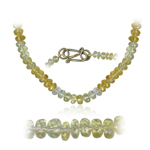 75.00 Cts Faceted Citrine Shaded Bead Necklace