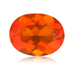 1.95 Cts of 10x8 mm AA Oval Reddish Orange Color Brazilian Fire Opal ( 1 pc ) Loose Gemstone