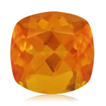 3.05 Cts of 10 mm AA Cushion Brazilian Fire Opal ( 1 pc ) Loose Gemstone