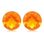 0.60-0.75 Cts of 5 mm AA Round Brazilian Fire Opal ( 2 pcs ) Loose Gemstones