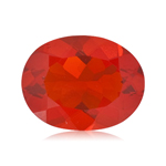 3.85 Cts of 13x11 mm AA Oval Dark Cherry Red Brazilian Fire Opal ( 1 pc ) Loose Gemstone