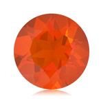 0.80 Cts of 7 mm AA Round Reddish Orange Color Brazilian Fire Opal ( 1 pc ) Loose Gemstone
