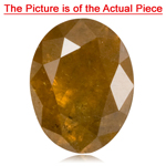 0.50-0.55 Cts of 5.7x 4.3 mm I3 quality Oval Natural Golden Brown Diamond ( 1 pc ) Loose Diamond