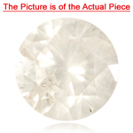 1.20-1.23 Cts of 6.6x6.6 mm H-I color & I3 clarity Round Natural White Diamond ( 1 pc ) Loose Diamond