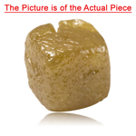 2.42 Cts of 5.5x5.6x5.5 Olive Green Diamond Collectors Item ( 1 pc ) Loose Rough Diamond