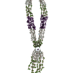 350.00-400.00 Cts Peridot & Amethyst & Crystal Quartz Necklace