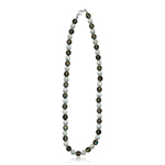 150.00-175.00 Cts Smokey Quartz & Natural Genuine Crystal Quartz Necklace in Silver