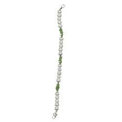 Peridot & Freshwater Pearl Bracelet in Silver