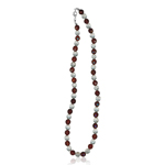 170.00 Cts Carnelian & Natural Genuine Crystal Quartz Necklace in Silver