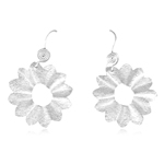 Flower Earrings in Sterling Silver