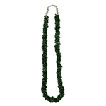 200.00 Cts Natural Green Tourmaline Bead Tumble Necklace in Silver
