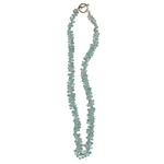 Natural Aquamarine Briolette Necklace in Silver