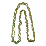 Peridot & Citrine Double Stranded Endless Tumble Chips Bead Necklace